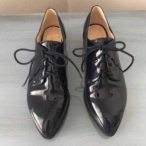 Navy blue patient leather Nine West shoes